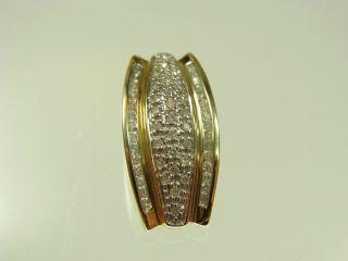 Schöner Diamant Anhänger 333 Gelbgold Mit 53 Diamanten Ca 0,  35 Carat Bild