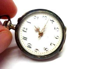 Elli: Wunderschöne Kleine Silberne Damentaschenuhr (handaufzug) 8ql3113 Bild