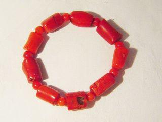 Wunderschönes Bambus - Koralle - Armband,  Ca.  32,  8 G / 18 Cm / Red Bambus Coral Bild