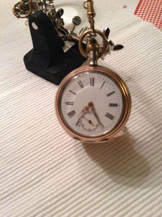 Alte Silberne Taschenuhr Bild