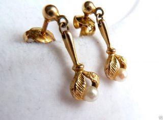 Perlenohrstecker 333 Er Gold Ohrstecker Mit Perle Bild