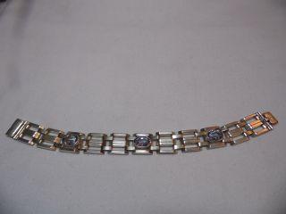 Art_deco 835ersilber Armband 3x Echte Aquamarine Massiv:31,  26 Gr.  Design Bild