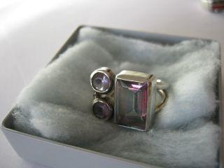 Mystik Topas U.  Amethyst 925 Sterlingsilber Ring Bild
