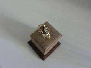Alter Rotgold - Ring Mit Rubin,  750er Gold Bild