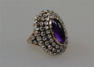 Ring Für Eine Königin,  Mit Diamanten Und Amethyst,  Biedermeier (2453) Bild