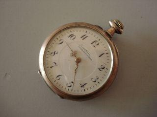 Alpina Union Horlogere 800er Silber Damen Taschenuhr Um1900 Ansehen Bild