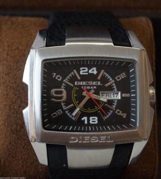 Seltene Diesel Herren Armbanduhr Chronograph Mit Lederarmband Watch Uhr Bild