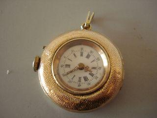 SchÖne Alte 585 14 - Karat Gold Damen Taschenuhr/anhÄngeruhr Um1900 Ansehen Bild