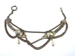 Sehr Ausgefallene Uhrenkette Mit Pferdeköpfen 8ql3108 Bild