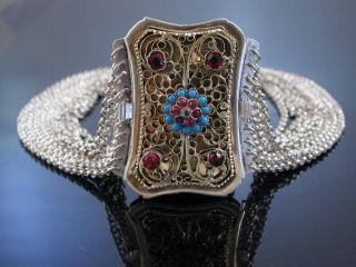 Antike Kropfkette Trachtenkette 10 Reihig Silber Salzburg Um 1870 Tracht Bild