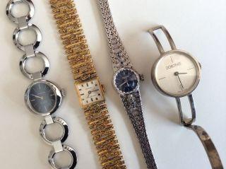 Antik Armbanduhren Damen Gold Silber Bastler Schmuck Swiss Vintage Mode Klassike Bild