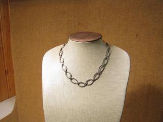▀ ▀ ▄ ▄ Alte Halskette Mit Großen Gliedern/850er Silber Bild