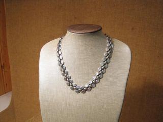 Alte Ausgefallene Halskette / 925er Silber - - Um 1950 - - Bild