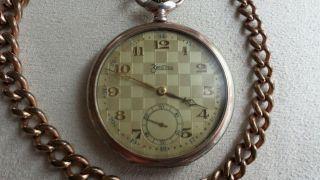 Alte Taschenuhr Zentra 13 Aus 800 Silber Läuft - Top Angebot - Bild