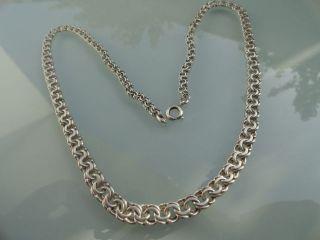 Vintage Art Deco 835 Silber Kette Collier L=460mm,  B=5mm,  Gewicht=16gr Bild