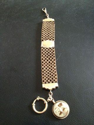 Uhrenkette Haarkette Mit Soldatenbild Taschenuhr - Kette Bild