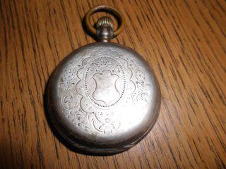 Antike Herren Junghans Silber Taschenuhr Defekt Sammlerobjekt Bild