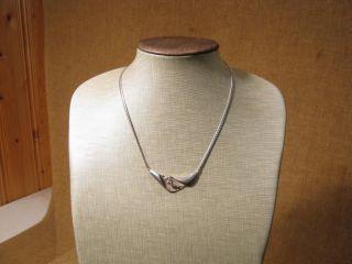 ▀ ▀ ▄ ▄ Alte Ausgefallene Halskette /925er Silber Um 1950 Bild