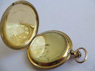 Gustav Rau Savonette Double Walz Gold Taschenuhr 1920 D 5,  2 Cm Funktionstüchtig Bild