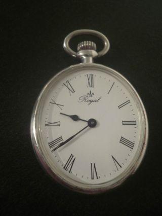Mechanische Royal Taschenuhr Kettenuhr Silber? Bild