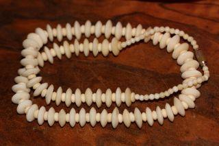 Alte Halskette,  Halsband,  Collier Aus Bein Ca 48 Gramm,  Ca 58 Cm Länge Bild