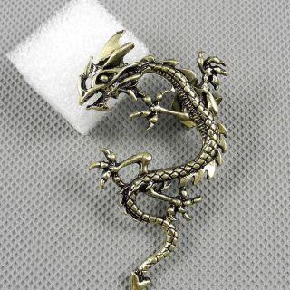 1x Schmuck Ohrstecker Pin Ear Clip Ohrringe Earrings Xf201b Linke Seite Drache Bild