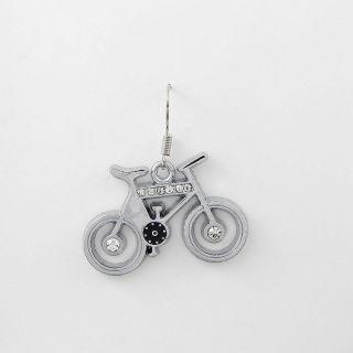 1x Männer Retro Strasssteine Ohrringe Earrings Xdh202 Fahrrad Bicycle Bike Bild