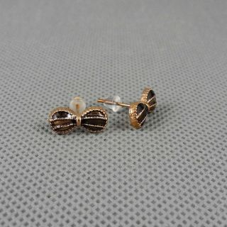1x Schmuck Retro Frauen Strasssteine Ohrringe Earrings Xj0528 Hauptbowtie Bild