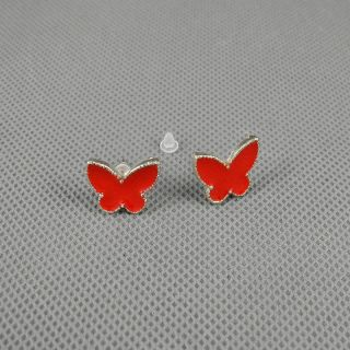 1x Retro Strasssteine Anhänger Ohrringe Earrings Xj0571 Schmetterling Butterfly Bild