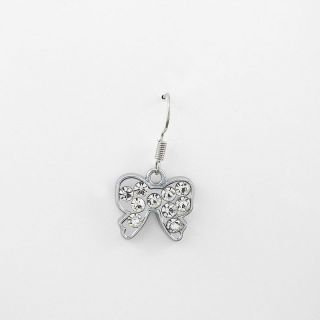 1x Schmuck Männer Retro Strass Ohrringe Earrings Xdh203 Schmetterling Butterfly Bild