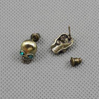1x Brosche Schmuck Männer Frauen Pin Ohrringe Earrings Xf010d Pair Schädel Bild