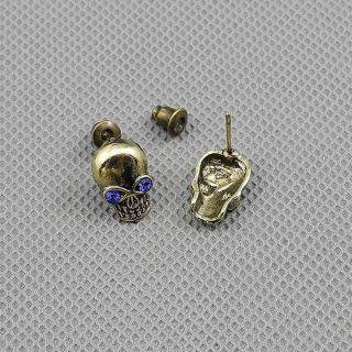 1x Brosche Schmuck Männer Frauen Punk Ohrringe Earrings Xf010c Pair Schädel Bild