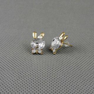 1x Schmuck Retro Frauen Ear Cuff Ohrringe Earrings Xj0558 Kaninchen Rabbit Bild
