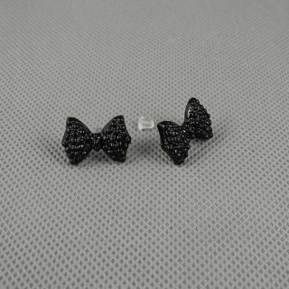 1x Brosche Schmuck Ohrclip Men Ear Clip Ohrringe Earrings Xj0297 Haupt Bowtie Bild