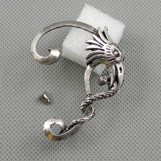 1x Schmuck Männer Fashion Ear Stud Ohrringe Earrings Xf095a Linke Seite Adler Bild
