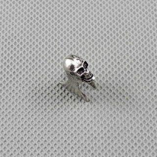 1x Männer Anhänger Ear Stud Ohrringe Earrings Xf090a Schädel Totenkopf Skull Bild