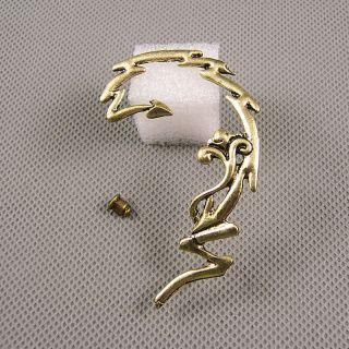1x Schmuck Ohrclip Retro Strasssteine Ohrringe Earrings Xf207b Linke Seite Blume Bild