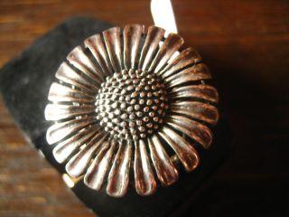Schwerer Moderner Designer Blüten Ring 925er Silber Blume Blüte Margarite 18 Mm Bild