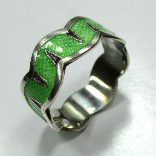 431 - Ring Wohl China Um 1970/80 - Silber Mit Emaille - - - Video - 1328 - Bild