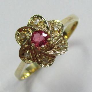 101 - Eleganter Ring Aus Gold 585 Mit Rubin Und Diamanten - - - Video - 1451 - Bild