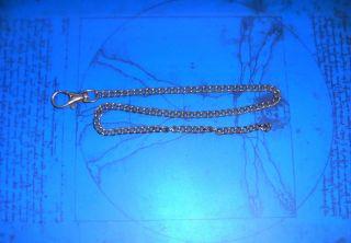 Taschenuhrkette Silberfarben,  40cm Bild