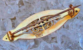 Antikbroschen Jugendstil Brosche In Aus Gold Brosche Jugendstil Schmuck Safir Bild