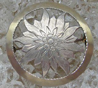 Silberbroschen Antikbrosche 800 Silber Brosche Blüten Brosche Jugendstil Schmuck Bild