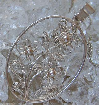 Antik Kette Silber Kette Silber Collier Jugendstil Kette Jugendstil Anhänger 42 Bild