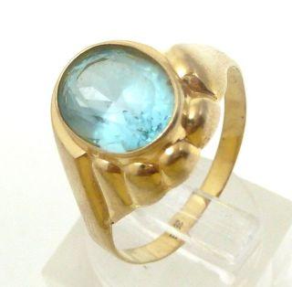 Damen - Ring - 333/gold 1920 Mit Spinell - Besatz 10x8mm - Ring Gr.  58/18,  4mm Bild