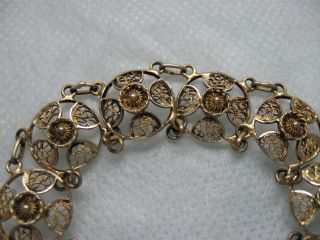 Antikes Traumarmband Silber 835 Vergoldet Tolle Verarbeitung Bild
