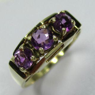 849 - Klassischer Ring Aus Gold 585 Mit Anmethyst - - - Video - 1510/57 - Bild