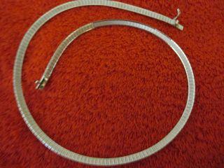 Breite Sterlingsilber Damenhals - Kette,  Punziert 925,  17 G,  Mit Sicherheitsbüg Bild