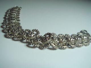 Breites Antikes Besonderes Jugendstil Damen Armband Echt Silber 800 Um 1900 Bild