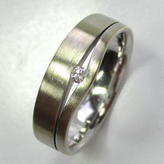 628 - Stilvoller Ring Aus 585 Weißgold Mit Brillant - - - Video - 1470 - Bild